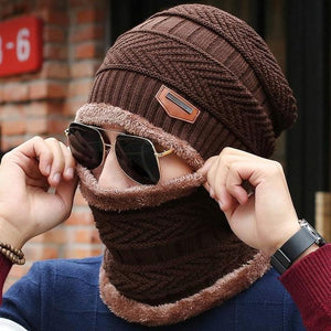 Knitted Winter Hat Scarf Beanies Knit Men's Winter Hats