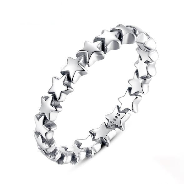 Star Trail Stackable Finger Ring For Women Hot Sale Jewelry