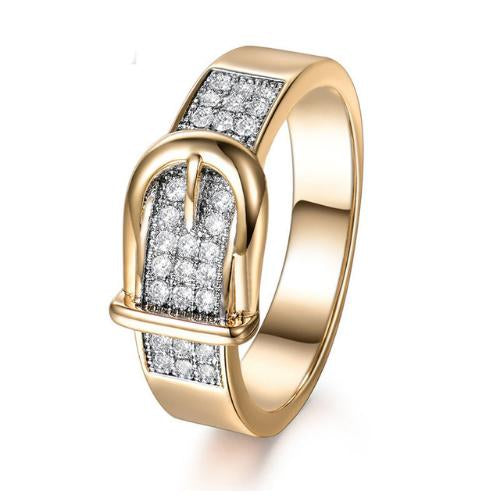 Shining Belt Rings Cubic Zirconia Stone Jewelry Gift