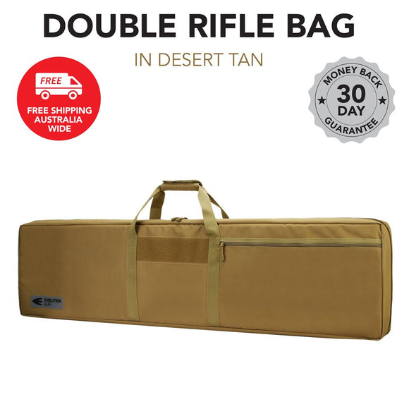 Double Rifle Gun Case Tan Evolution Gear