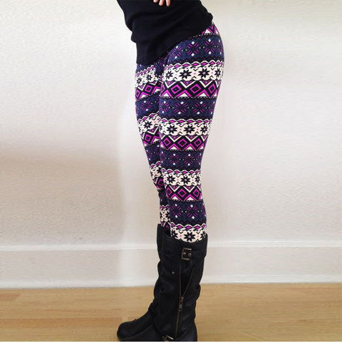 Casual Printed Stretchy Leggings