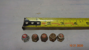 "LOT of 5 - Raleigh Cotter bolt Cap Nut wit ""R"" (1021-5)"