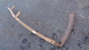 "Vintage Wood Handle Scythe 57"" Handle &  17"" Blade (0204-17)"