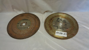 "LOT of 2 - 7-1/4"" 150 Tooth Plywood Circular Saw Blade (0128-27)"