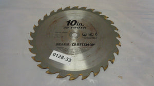 "Craftsman  10"" 28 Tooth Circular Saw Blade USA (0128-33)"
