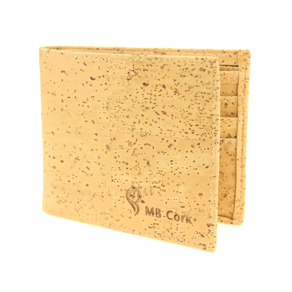Natural cork handmade  unisex vegan wallet