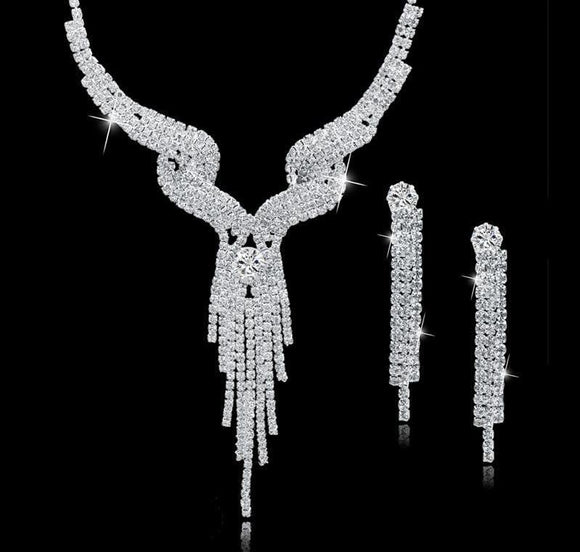 Crystal  Jewelry Sets For Wome Necklace/Earrings