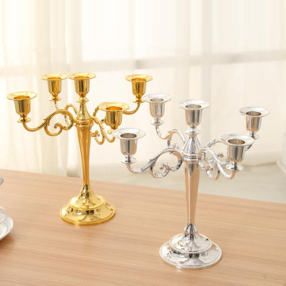 Metal Candle Holder And Candle Stand For Home And Wedding