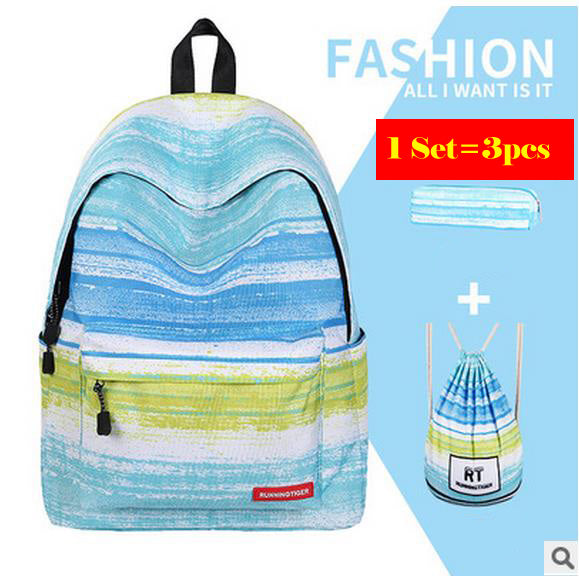 Girls School backpack 3pcs Set