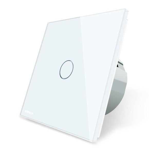 White Crystal Glass Wall Touch Switch EU standart