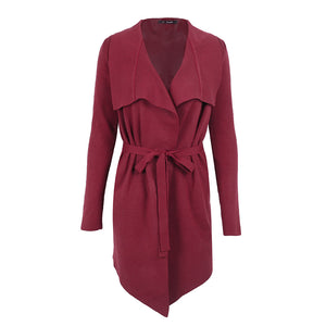 Women Elastic Knitted Cardigan Coat Outwear