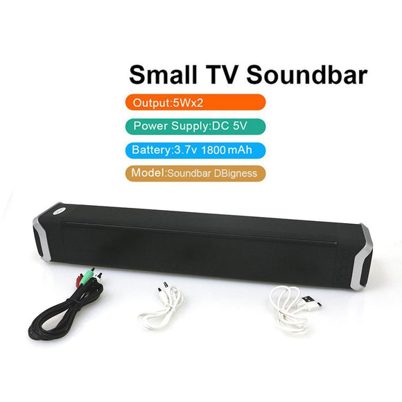 Bluetooth Speaker Subwoofer 3D Stereo Column Soundbar with Handfree