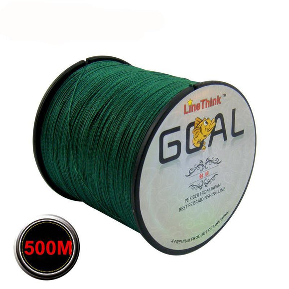 500M Brand LineThink Multifilament 100% PE Braided Fishing Line