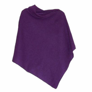 Poncho Soft Merino Lambswool Lupin Purple