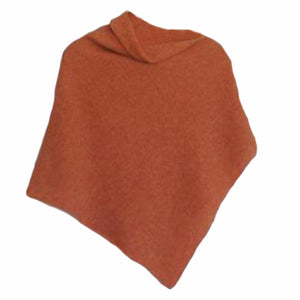 Poncho Soft Merino Lambswool Orange