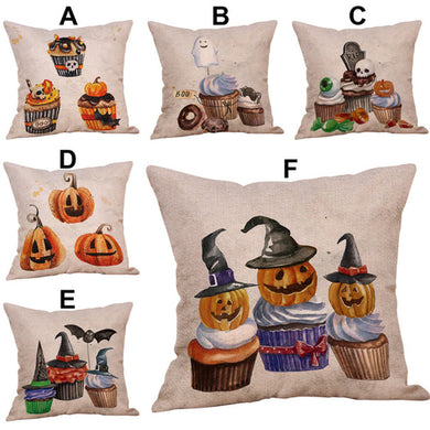 Halloween Pillow Cases  Linen Sofa Pumpkin ghosts - Merchandise Inn