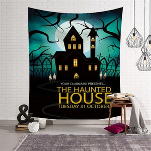 Halloween Tapestry Horror Bloody Ghost Print Wall - Merchandise Inn