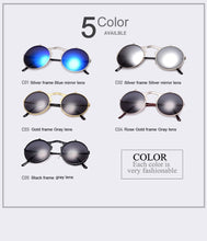 Load image into Gallery viewer, VINTAGE STEAMPUNK COATING Retro CIRCLE SUNGLASSES - Merchandise Inn