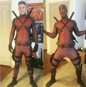 Hot Marvel Halloween Cosplay Full Body Deadpool Costume - Merchandise Inn