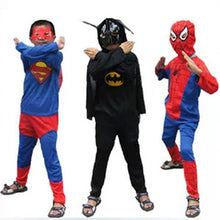 Load image into Gallery viewer, Red spiderman costume black spiderman batman superman halloween costumes for kids - Merchandise Inn