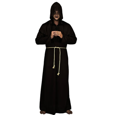 Halloween Medieval Monks Costume Classic Friar Wizard Cosplay Costume Set - Merchandise Inn