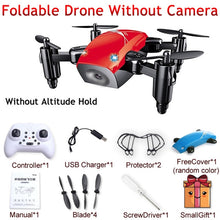 Load image into Gallery viewer, S9 S9W S9HW Foldable Mini Pocket Micro Drone RC Helicopter With HD Camera Altitude Hold - Merchandise Inn