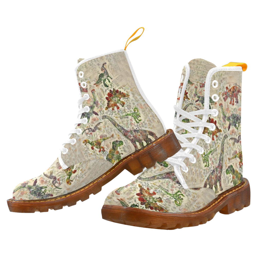 Jurassic Bloom Women's Lace Up Canvas Boots