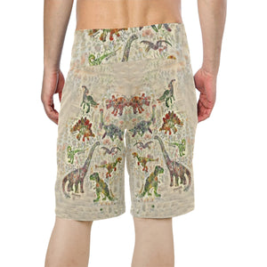 Jurassic Bloom Swim Trunks Boardshorts