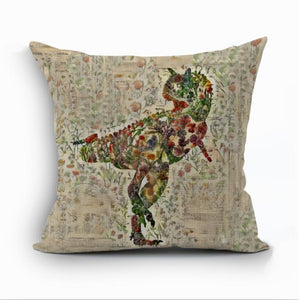 Jurassic Garden Collection Throw Pillow Case Cover