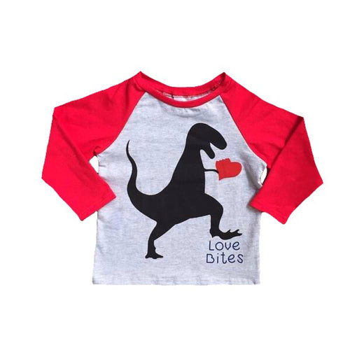 Love Bites Cotton Heart Rex Raglan