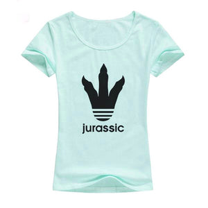 Cotton Jurassic Footprint T-Shirt 7 Color Options