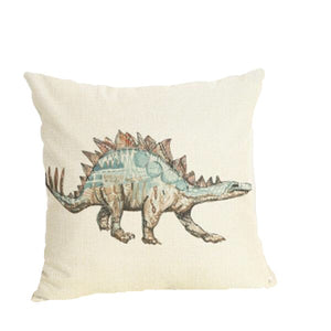 Stegosaurus Dinosaur Linen Throw Pillow Case Cover