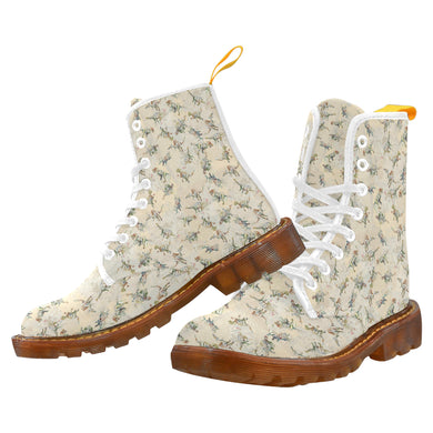 Jurassic Blossom Women's Lace Up Canvas Boots