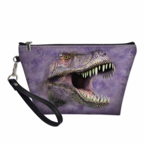 Purple T-Rex Makeup Bag Clutch