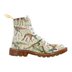 Bones In Bloom Women's Lace Up Canvas Boots