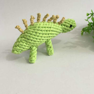 Stegosaurus Dinosaur Dog Chew Rope Toy