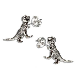 Sterling Silver Tyrannosaurus Rex Dinosaur Earrings Stainless Steel Post