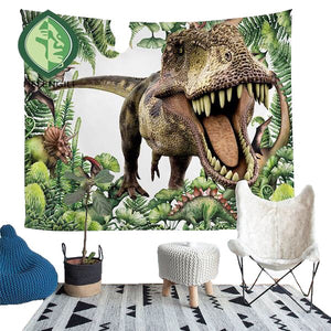 Home Furnishing Dinosaur Tapestry Wall Hanging Picnic Throw Rug Blanket