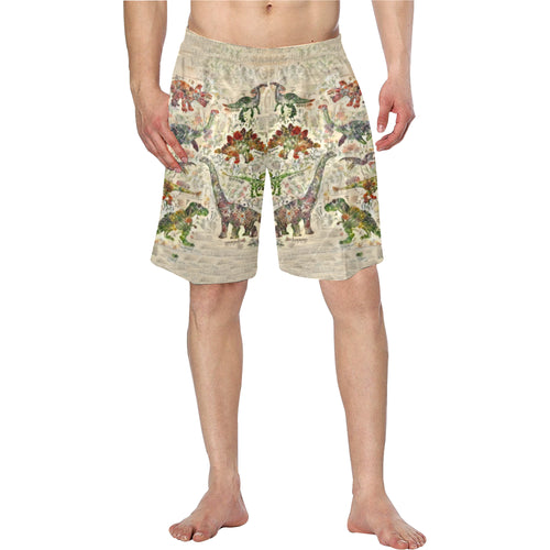 Jurassic Bloom Swim Trunks Elastic Waist