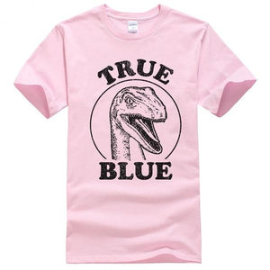 True Blue Jurassic World Cotton T-shirts