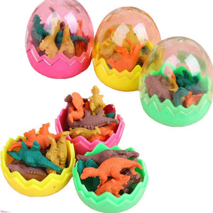 48 Piece Mini Dinosaur Eraser Set