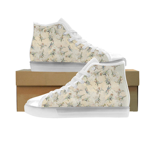 Jurassic Blossom High Top LED Light Up Canvas Women's Shoes
