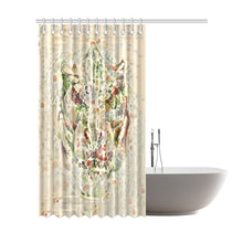 "TheDinostaur Exclusive Jurassic Bloom T-Rex Shower Curtain 72""x84"""