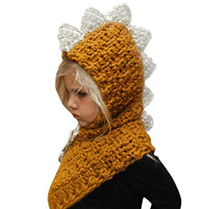 Toddler knit Dino Scarf Hat 2 Colors