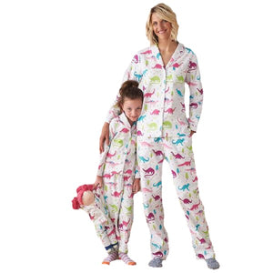 Cotton Matching Family Dinosaur Pajamas Set