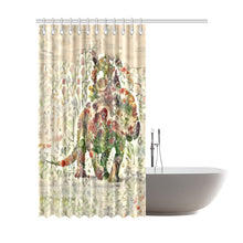 "ThedDinostaur.com Exclusive Jurassic Bloom Protoceratop Shower Curtain 72""x84"""
