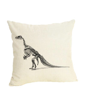 Velociraptor Dinosaur Fossil Throw Pillow Case Cover