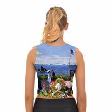 Women's Apatosaurus Monet Crop Tank Top