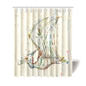 TheDinostaur.com Exclusive Jurassic Garden Pteranodon Petal Shower Curtain