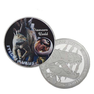 Stegosaurus Dinosaur 999.9 Silver Plated Coin Collectible